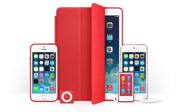 Los productos (RED) de Apple