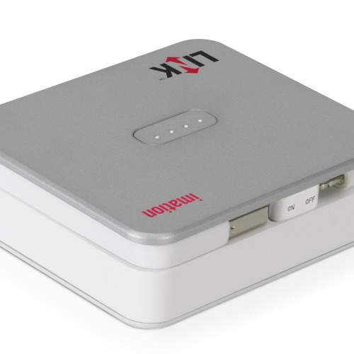 Imation Link Power Drive: cargador, memoria y soporte para iPhone, iPod e iPad