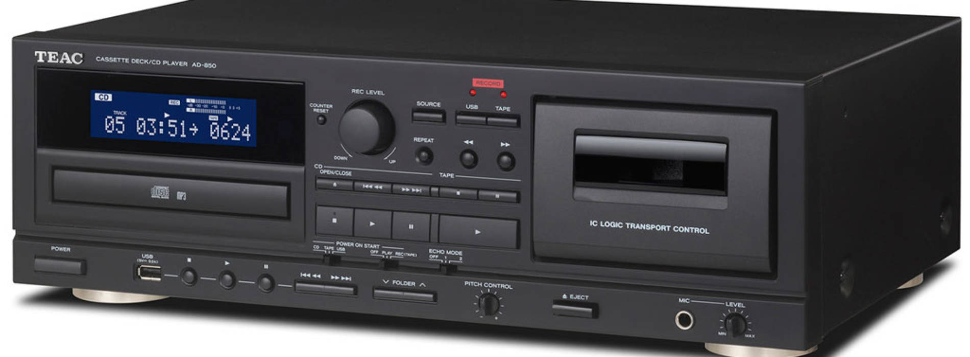 TEAC AD-850 lee y graba música analógica y digital
